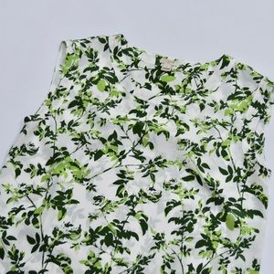 J. Crew Tops - J. Crew Green White Leaf Print Blouse Sz Small